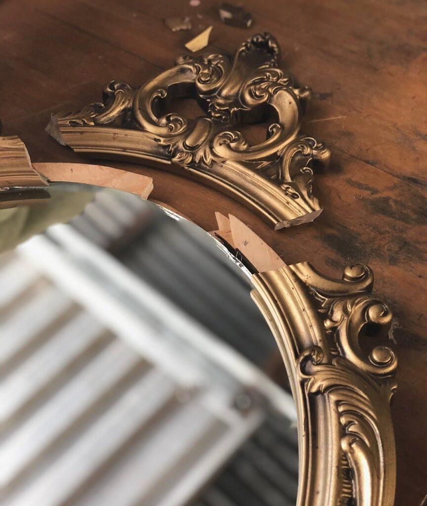 vintage, mirror, frame